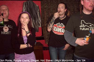 Jon, Purple Claire, Ginger & Hot Steve @ High Wycombe - Photo © Purple Claire