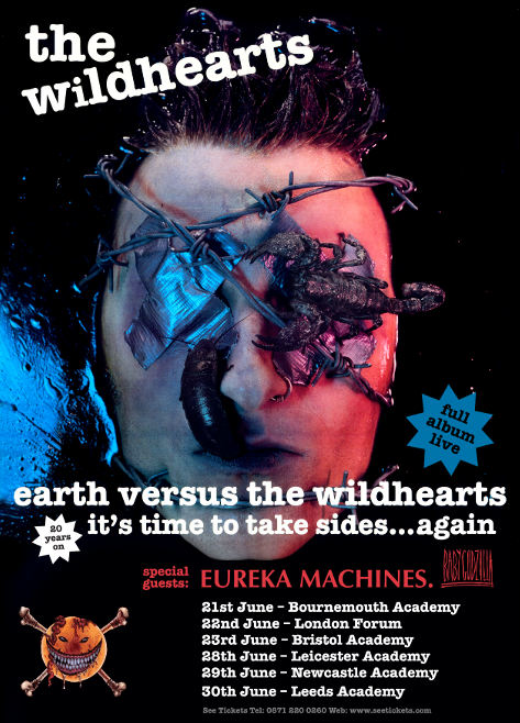 The Wildhearts play 6 more UK dates to celebrate 20th anniversary of Earth Vs The Wildhearts