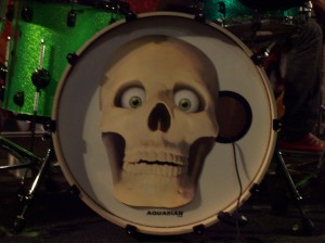 I customised Ritch's bass drum today. I'm happy with the results.