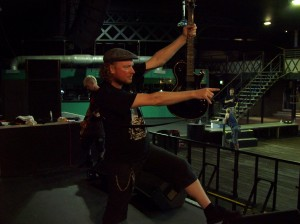 Hot Steve pulls pose #264 of the roadies shape throwing manual.