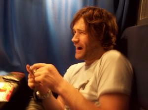 Gav enjoying a laugh or two.