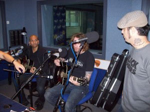 Performing The Only One acoustic at Rock Radio, Manchester.