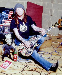 Ginger and The Stickered Les Paul