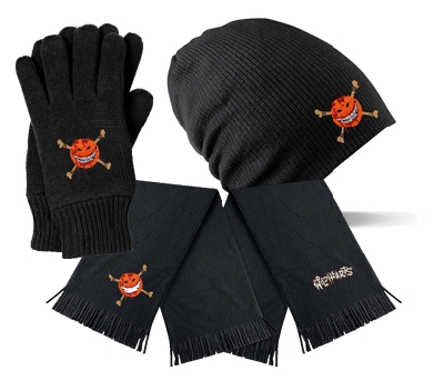 Smileybones Beanie, Gloves And Scarf
