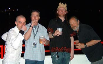 Pikey Dan, Willy, Hot Steve and John Blasutta, high times on the Hyatt Hotel balcony