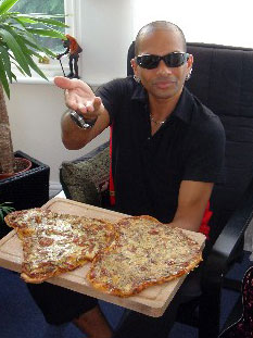 CJ and his pizza